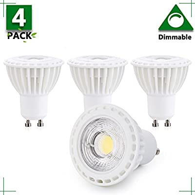 1 Pack - GU10 Dimmable GU10 LED 3W Bulb, 2700K Warm White, 25W Halogen Bulb Equivalent, 300 Lumens, 38 Degree Beam Angle, Perfect Standard Size, Recessed Lighting, Track Lighting 2 years warranty