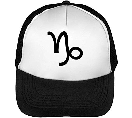 Capricorn Sign Snapback Beisbol Negro Hombre Zodiac Blanco Gorras w4HvPw