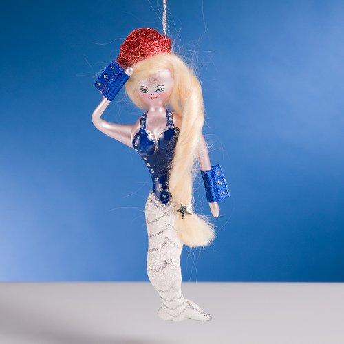 De Carlini Captain Mermaid Italian Glass Christmas Ornament