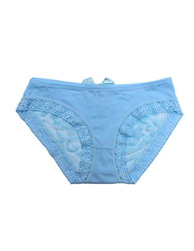 Legou Damen Boyshort Lace Panties Unterwäsche Hellblau baZc4Tv