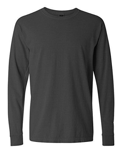 Comfort Colors Men's Adult Long Sleeve Tee, Style 6014, Pepper, 4X-Large (Best Man In Greek)
