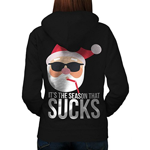 Mistle Toe Hat (Santa Hat Funny Christmas Women M Hoodie Back | Wellcoda)