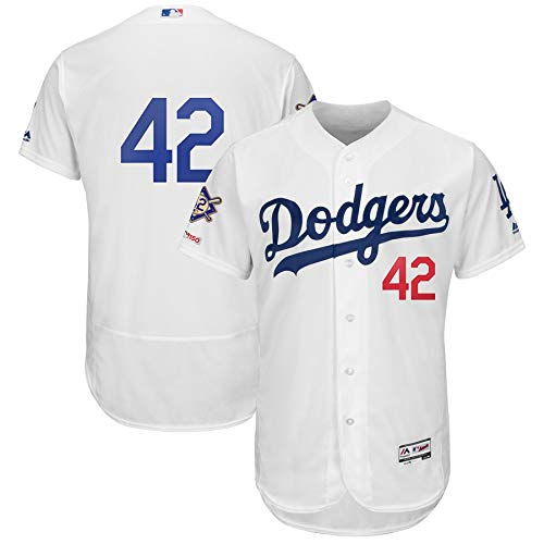 Los Angeles Dodgers 2019 #42 Jackie Robinson Day Men's Flex Base Authentic Collection Player Jersey - White (XL)