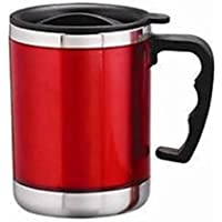 JMD DESIGN Stainless Steel Insulated Travel Coffee Mug 450ml - Red or Blue