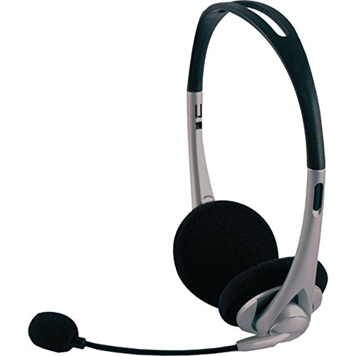 GE 98974 VoIP Stereo Headset - Silver/Black Electronics Accessories Ge Voip Stereo