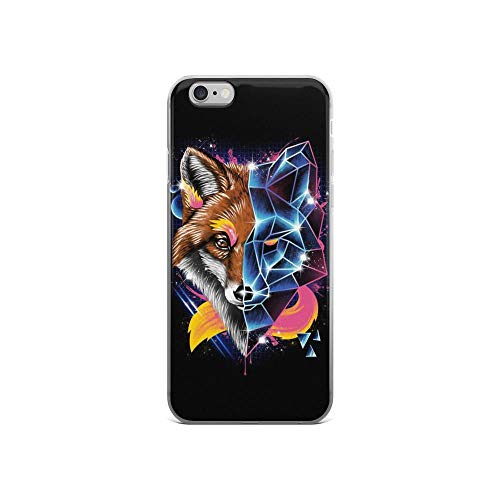 - iPhone 6/6s Pure Clear Case Cases Cover Two Face Fox Portrait Digital Art