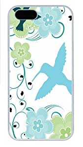 Hummingbird Paradise3 PC Case Cover for iPhone 5 and iPhone 5s White