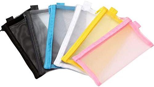 yyuezhi Estuche Transparente de 6 Piezas Archivo Documentos de Plástico con Malla para LápicesBolsa de Papelería de Malla Transparente de Alta Calidad para Guardar Artículos de Papelería o Cosméticos: Amazon.es: Oficina y
