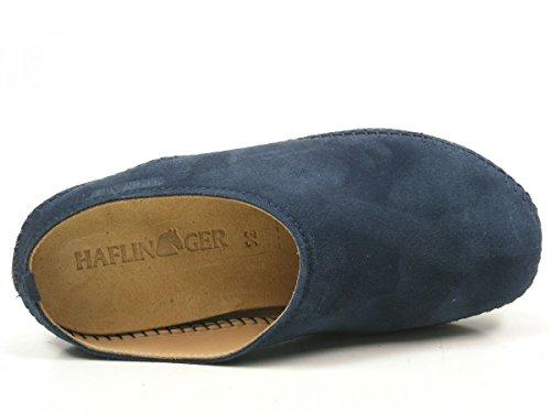 Pantoffeln 0 Everest 488023 Blau Softino Leder Haflinger Damen Hausschuhe xY57gqwRZR