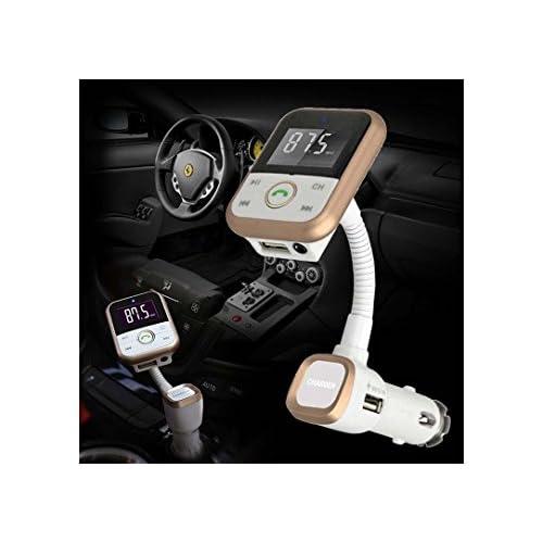 FM Transmitter Bluetooth USB Flash Drive Music, Bluetooth Hands free