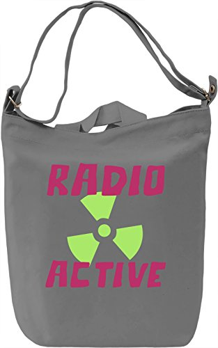Radio active Borsa Giornaliera Canvas Canvas Day Bag| 100% Premium Cotton Canvas| DTG Printing|