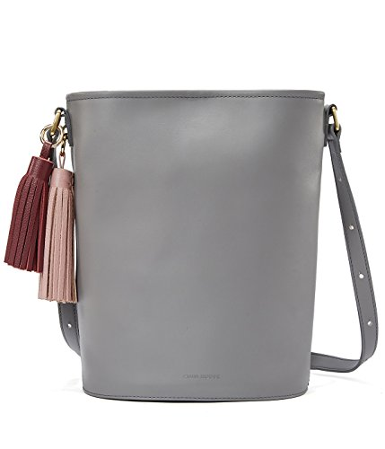 EMINI HOUSE Influencer Chic Bucket Shoulder Bag with Tassels Women Handbag-Grey