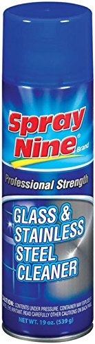 Spray Nine 23319 Glass and Stainless Steel Cleaner, 19 oz. Size: 19 Ounce, Model: 23319, Outdoor/Garden Store, Repair & Hardware by Outdoor Gear & Hardware