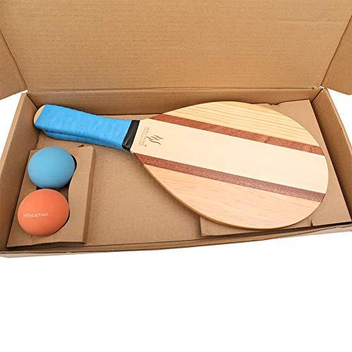 Amazon.com: HOLYKING - Juego de pelotas de pádel de madera a ...