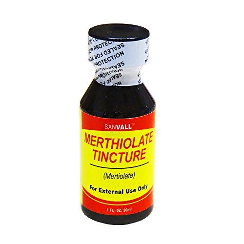 Sanvall Merthiolate Tincture 1 Oz by Sanar Naturals - Mertiolate - International Flat Shipping Rate