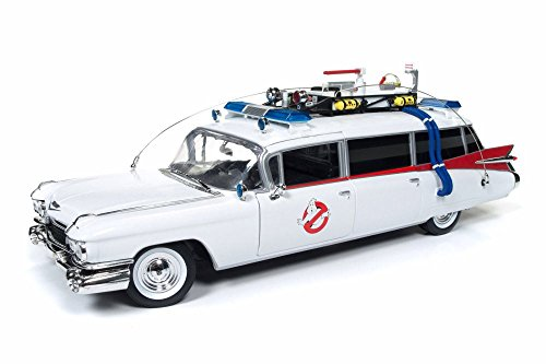 Auto World 1959 Cadillac Ambulance Ecto-1, Ghostbusters AWSS118 - 1/18 Scale Diecast Model Toy Car ()