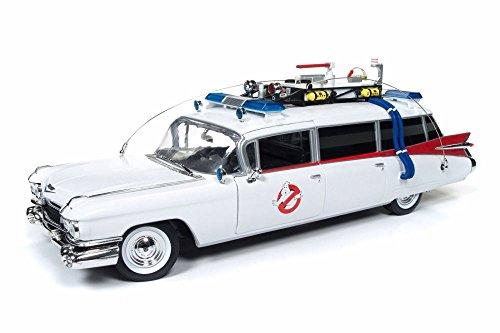 Cadillac 1959 Ambulance (Auto World 1959 Cadillac Ambulance Ecto-1, Ghostbusters AWSS118 - 1/18 Scale Diecast Model Toy Car)