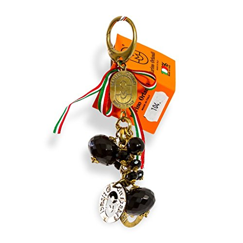Marino Orlandi Italian Designer Jeweled Black Signature Keychain Keyfob by Marino Orlandi
