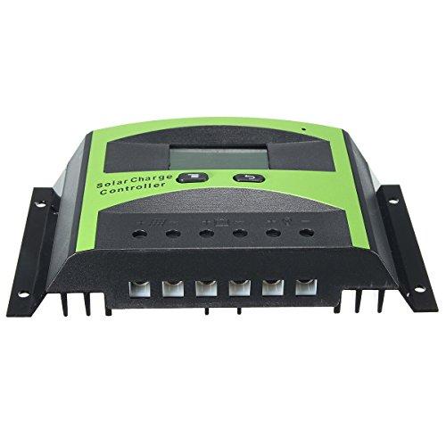 30A 12 24V Solar Charge Controller Intelligent Lcd Panel Battery Regulator