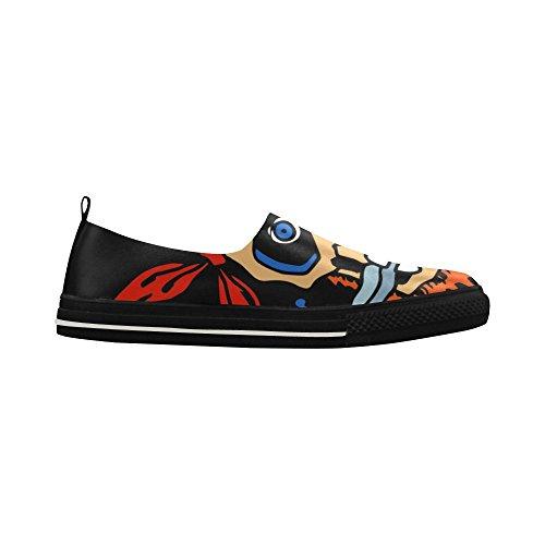 D-histoire Personnalisé Prié Crâne Slip-on Microfibre Chaussures Sneaker