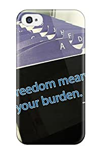 YALZowa9900JwVCv Valerie Lyn Miller Awesome Case Cover Compatible With Iphone 4/4s - Freedom Quotes