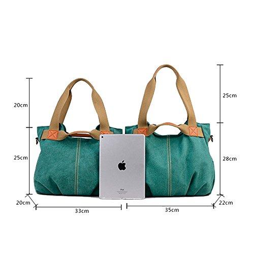 Women's Handbags grigio blu taglia Baachang colore Canvas L aqBzd