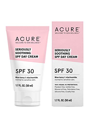 ACURE Seriously Soothing SPF 30 Day Cream | 100% Vegan | For Dry to Sensitive Skin | Blue tansy & Niacinamide - Soothes & Provides Sunscreen | 1.7 Fl Oz