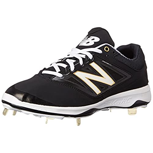 New Balance Men's L4040V3 Cleat Baseball Shoe, Black/Black, 11 D US