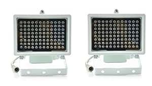 Aweek® 2 Pack 96 Leds IR Illuminators Light IR Infrared Light LED infrared light CCTV Camera Night-vision Fill Light for CCTV Security Camera, Standard 45° Level Angle Visual Range