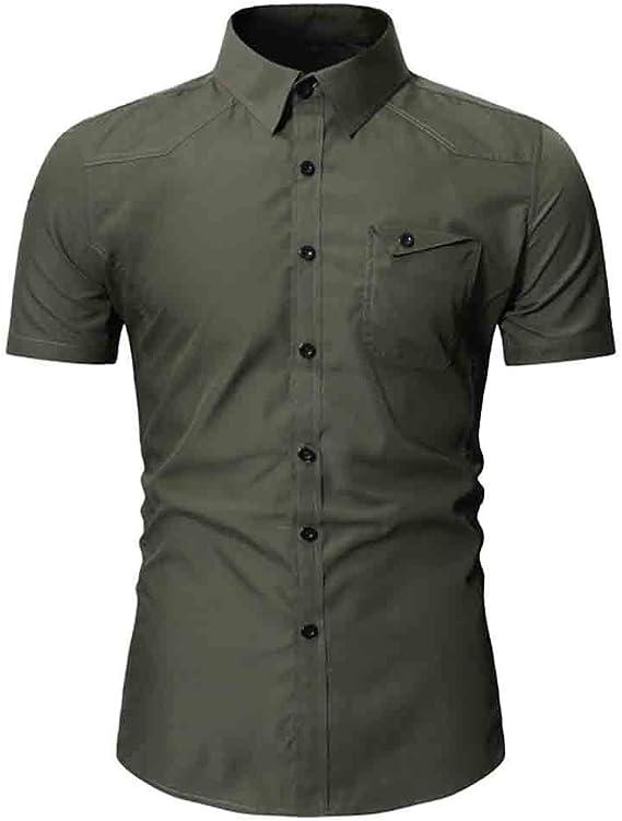 Mens Casual Halo Hawaiian Shirt Zlolia Solid Color T-Shirt Top Blouse