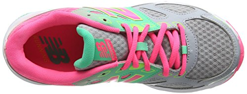 New Balance Kr680kgy M, Zapatillas Unisex Niños Multicolor (Grey/pink)