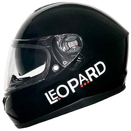 Leopard Sabre LEO-808 Double Racing Sun Visor Full Face Motorbike Helmet Matt Black/Blue M Touch Global Ltd