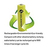 GEILIENERGY Solar Light AA Ni-CD 600mAh Rechargable Batteries,AA Rechargeable Batteries for Solar Lights Solar Lamp