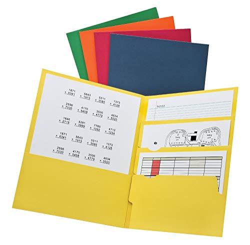 (Oxford Divide it Up, 4 Pocket Folder, Assorted Colors, Letter Size, 25 per box (59803))
