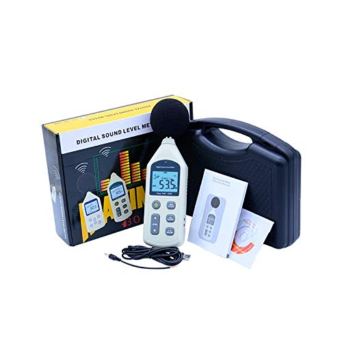 Level Measuring Instruments | with Carry Box Mini USB Digital integrating Sound Level Meter Led Noise Tester Meter GM1356 30|130dB A/C Fast/Slow dB+Software | by ()