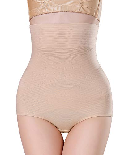 AGROSTE Women Shapewear High Waist Brief Seamless Tummy Control Panties Thigh Slimmer Body Shaper Shorts