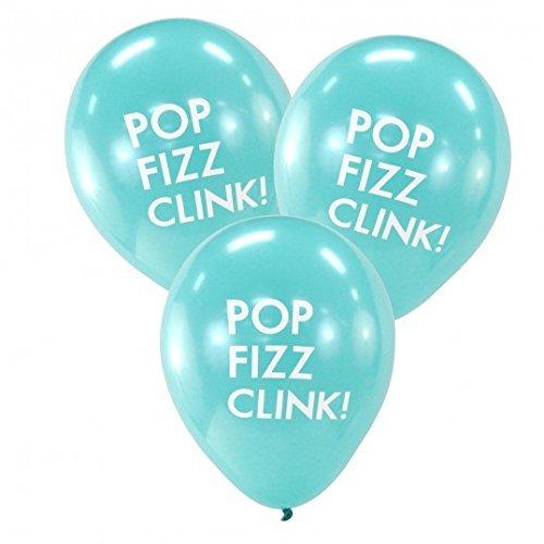 Dress My Cupcake DMC70670 Pop Fizz Clink Balloons, Aqua]()