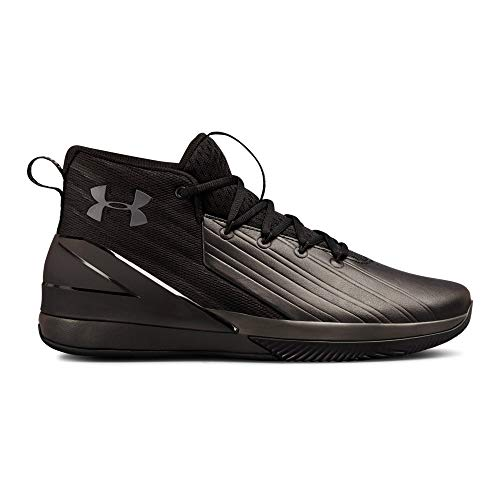 Under Armour Men's Launch Basketball Shoe, Black (001)/Charcoal, 10