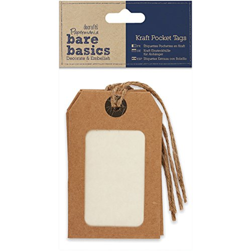 DOCrafts Papermania Bare Basics Cardstock Tags Twine Natural Kraft Pocket by DOCrafts