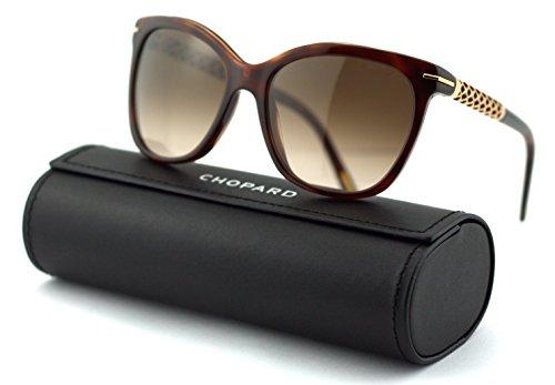 Chopard SCH 207S Women Round Sunglasses (Shoulder Shadow Frame/Brown Gradient Lenses 09XK) ()
