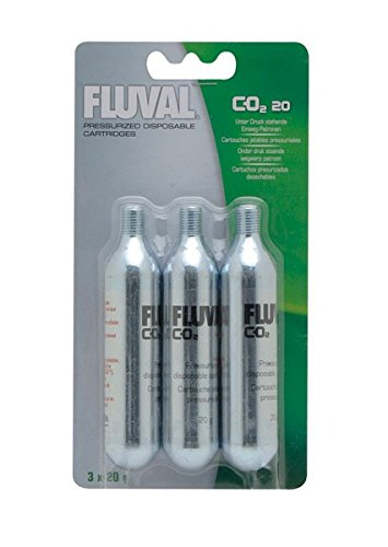 Fluval 20g-CO2 Disposable Cartridges - 3-Pack (Aquarium Co2 Small)