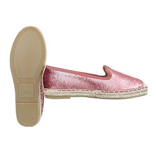 Ital-Design - Tobillo bajo Mujer , color rosa, talla 37 EU