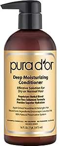 PURA D'OR Deep Moisturizing Conditioner Dry Hair Treatment Organic Argan Oil, 16 Fluid Ounce
