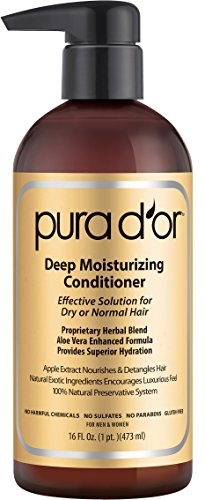 PURA D'OR Deep Moisturizing Conditioner Dry Hair Treatment Organic Argan Oil, 16 Fluid Ounce