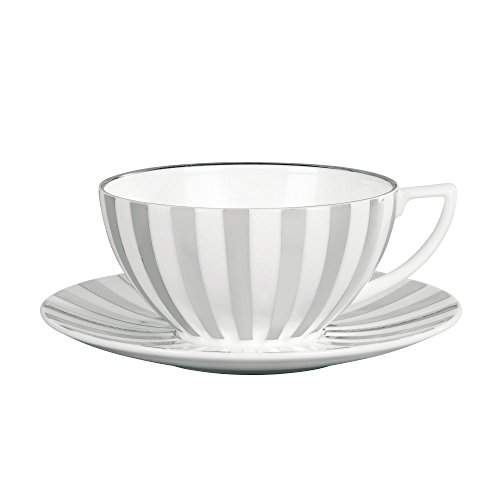 - Jasper Conran by Wedgwood Platinum Teacup Striped