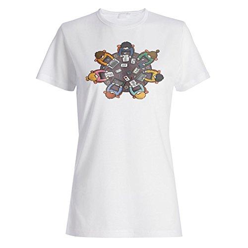 Business Meeting Tisch Neuheit Lustig Damen T-shirt a821f