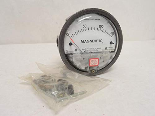 Dwyer Magnehelic Series 2000 Differential Pressure Gauge, Range 0-150''WC by Dwyer