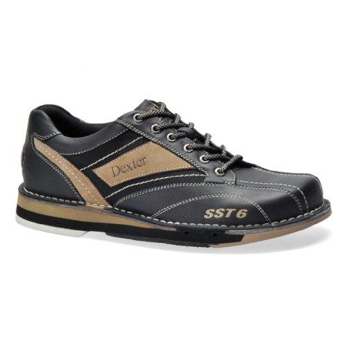 Dexter Mens SST6 LZ Bowling Shoes- Left Hand (11 1/2 M US, Black/Stone)