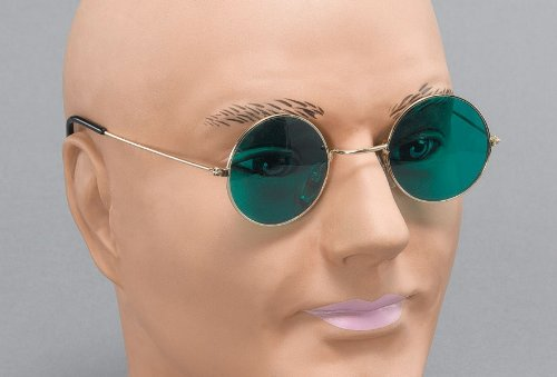 John Lennon Glasses With Green Lens