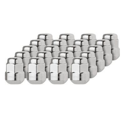 DPAccessories LCR2B6HCOCH04020 20 Chrome Factory Style Lug Nuts for Honda Acura Aluminum Wheels 90381S4L003 Wheel Lug - Aluminum Ball Nut